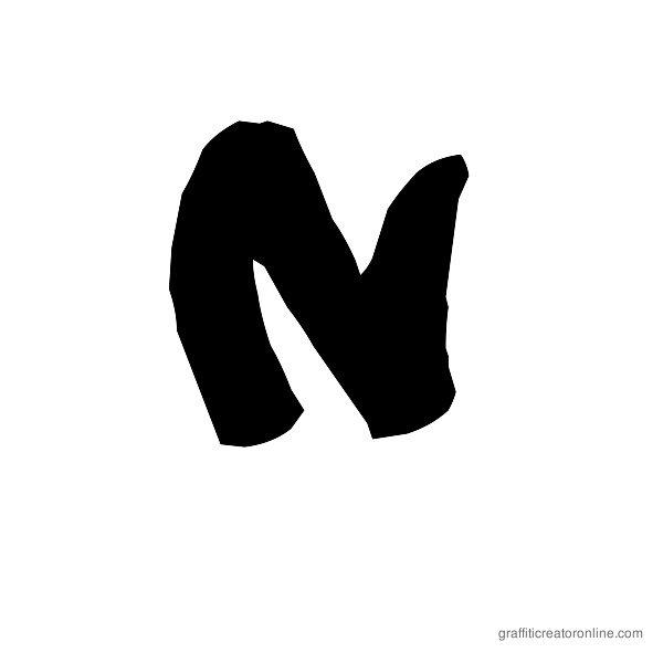 08 Underground Font Alphabet N