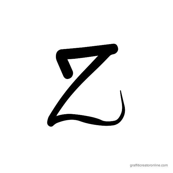 Dafxter Font Alphabet Z