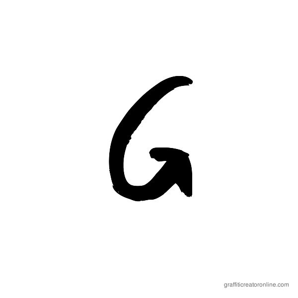Graffiti Paint Brush Font Alphabet G