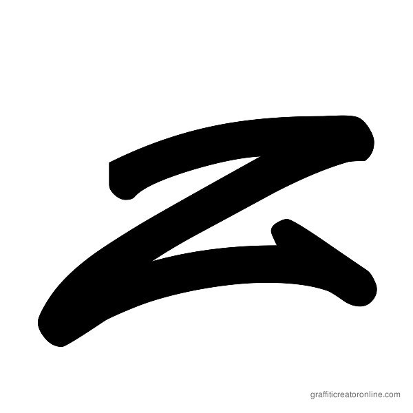 Reticulum 3 Font Alphabet Z