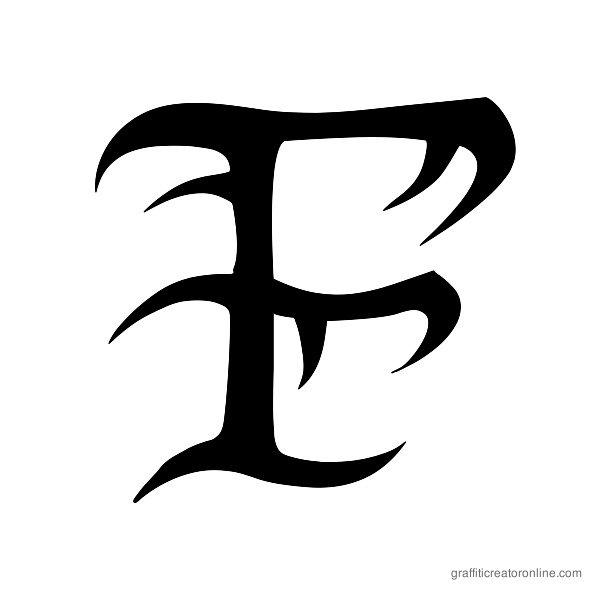 Tribal Font Alphabet F