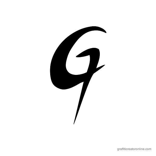 ZOE Graphic Font Alphabet G